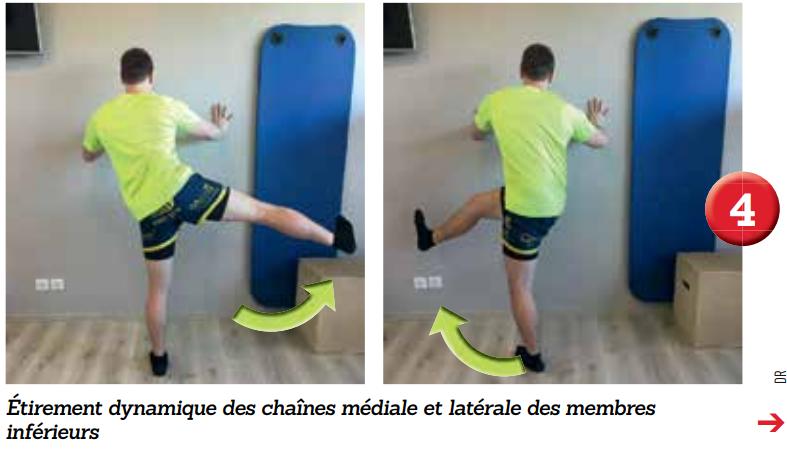 Étirements dynamiques des chaînes médiale et latérale des membres inférieurs