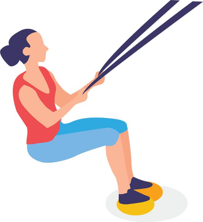 Exercice 1 de renforcement musculaire pour la planche à voile: travail d'instabilité