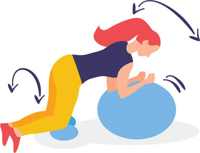 Exercice 2: travail de chaîne musculaire antagoniste