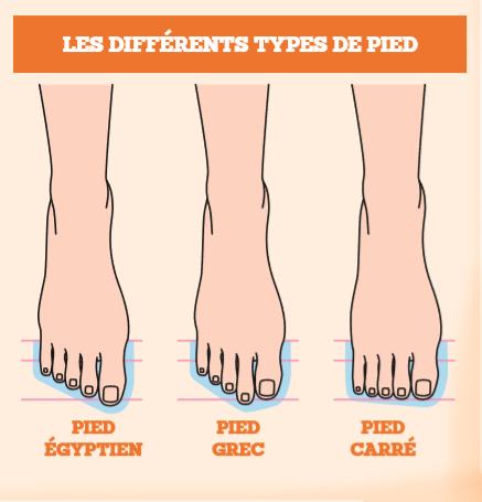 Shéma 1: les trois formes canoniques du pied